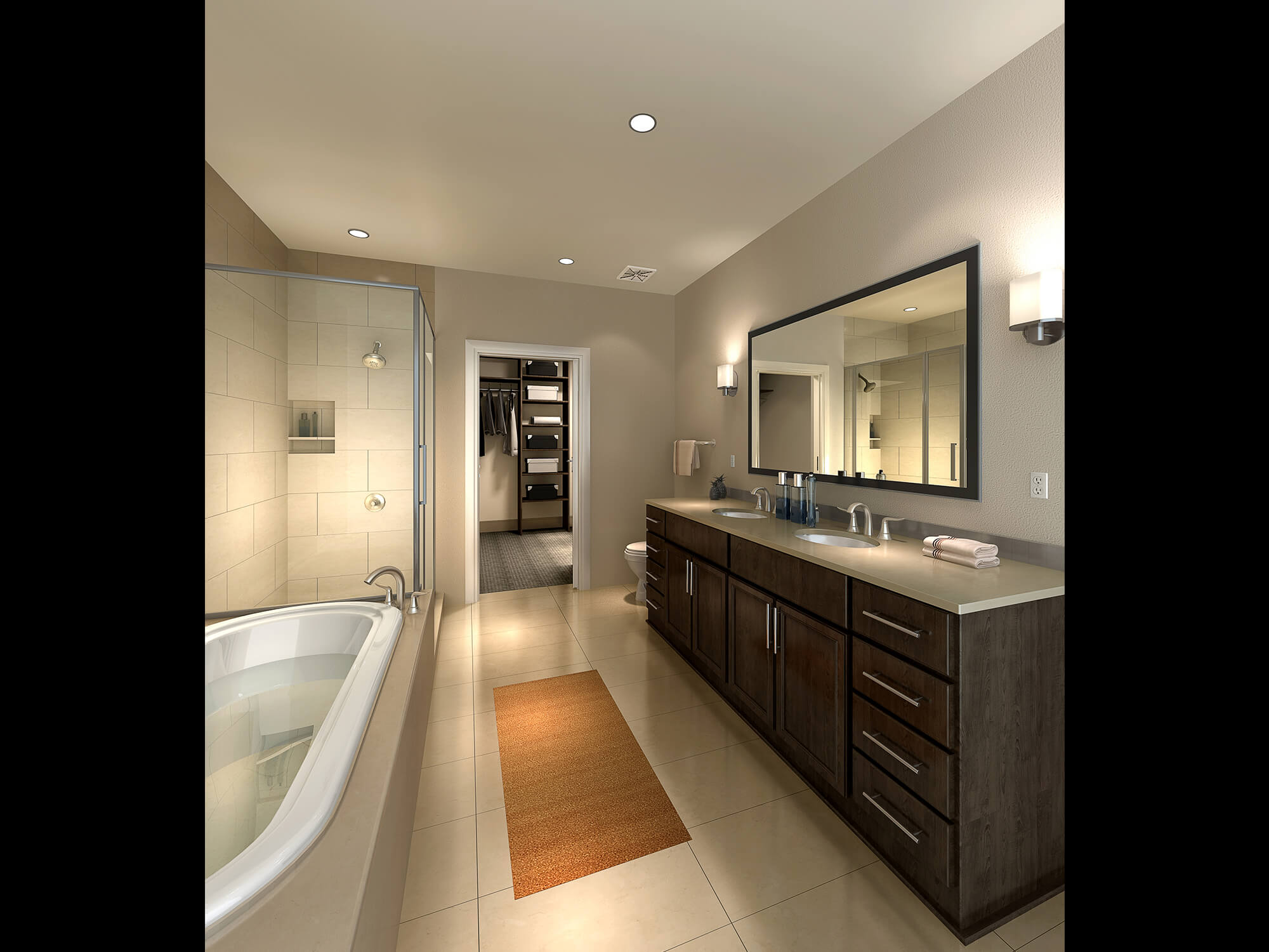 Milam bathroom and kitchen finishes at market square tower for Bathroom finishes