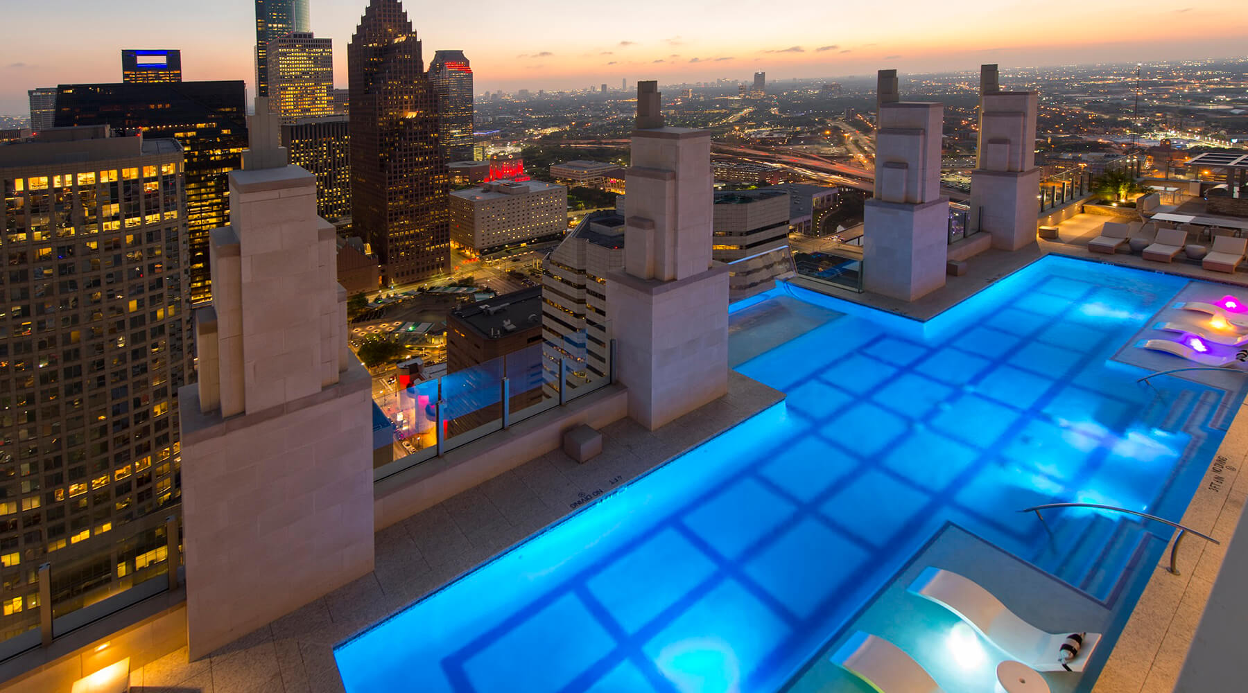 Market Square Tower Sky Pool At Dusk